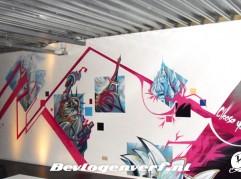 Graffiti kunst in personeelsruimte Creaforti