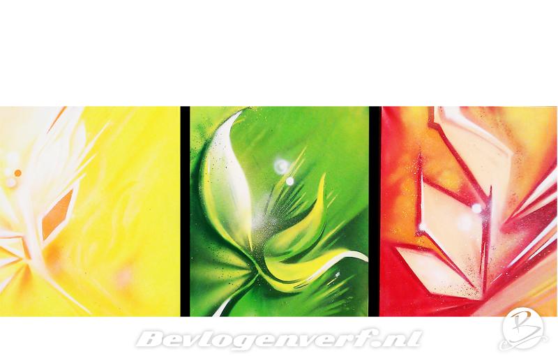 Canvas bloem