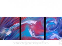 Handen op canvas, drieluik